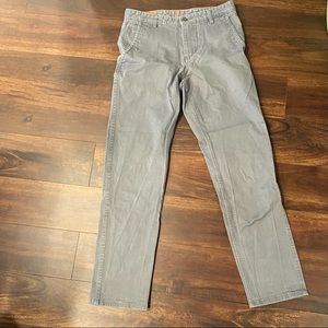 Dockers grey pants flat front 29x32 athletic fit